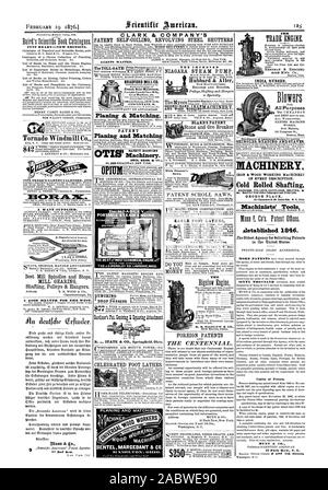 JUST READYNEW EDITIONS. Tornado Windmill Co. 1876 DREER'S GARDEN CALENDER 1870 FOREIGN PATENTS AND THE CENTENNIAL. $250 cular. HERRMAN & BIERCHEL. RODE CO. INDIA RUBBER Blowers All Purposes MACHINERY. OF EVERY DESCRIPTION. Cold Rolled Shafting. GEORGE PLACE Machinists' Tools ilstablished 1846. fhe Oldest Agency for Soliciting Patents in the United States. Copies of Patents. MUNN & CO. 31EBCDR4.21E A WANT .SUPPLIED. Best Mill Spindles and Steps MILL GEARING Shafting Pulleys & Hangers. A GOOD HEATER FOR TILE WEST. The HOADLEY PORTABLE STEAM ENGINE. AMP THE J.C.HOADL EY CO. LAWRENCEMASS - Stock Photo