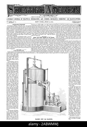 Entered at the Post Office of New York N. Y. as Second Class Matter. Vol. XLIIINo. 1. [NEW SERIES.' 3.20 per Annum. AGRICULTURAL INVENTIONS. A Rare Specimen Lost. SIMPLE AND CHEAP PROCESS OF GAS MAKING. MAXIM'S NEW GAS MACHINE., scientific american, 1880-07-03 - Stock Photo