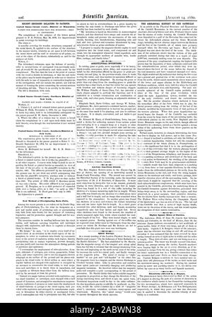 RECENT DECISIONS RELATING TO PATENTS. United States Circuit CourtDistrict of Minnesota. United States Circuit Court.-Northern District of New York. United States Circuit CourtSouthern District of New York. New Method of Precipitating Rain Falls. AGRICULTURAL INVENTIONS. Ancient American Giants. THE GEOLOGICAL HISTORY OF THE CATSKILLS. Eighty Square Miles of Turtles. Electricity :Affected by a Magner., scientific american, 1880-08-11 - Stock Photo