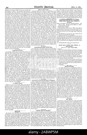 A Big Load of Cotton. A Cracked Volcano. Diphtheria. Trial of a Fire Nozzle. Orchid Hunting along the Rio Negro. New Method of Packing Fish Eggs for Shipment. Climbing Trees for Fish Bait. RECENT DECISIONS RELATING TO PATENTS. Maryland. PATENT RAILWAY BRAKE. United States Circuit CourtDistrict of Massachusetts. WI 4  I  Mexican Pyramids. The Moguls., scientific american, 1881-05-07 - Stock Photo