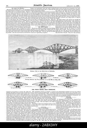 The Jumbo Lace Machine. THE FORTH BRIDGE NEAR EDINBURGH. The St. Louis Bridge. A Seaweed Dye., scientific american, 1888-08-11 - Stock Photo