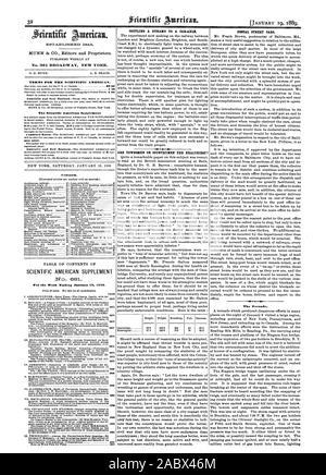 Week Ending january 19 1889. PAGE I al EN I  I4. The Tornado., scientific american, 1889-01-19 - Stock Photo