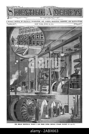 WEEKLY JOURNAL OF PRACTICAL INFORMATION ART SCIENCE MECHANICS CHEMISTRY AND MANUFACTURES., scientific american, 1890-06-28 - Stock Photo
