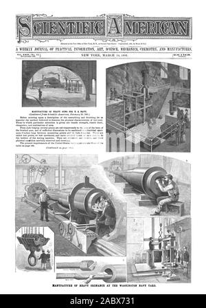 Entered at the Post Office of New York N. Y. as Second Class Matter. Copyrighted 1891 by Munn it Co.) MANUFACTURE OF HEAVY ORDNANCE AT THE WASHINGTON NAVY YARD. Vol. LXIVNo.  MANUFACTURE OF HEAVY GUNS FOR U. S. NAVY., scientific american, 91-03-14 - Stock Photo