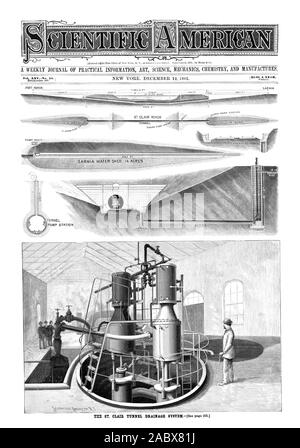 A WEEKLY JOURNAL OF PRACTICAL INFORMATION ART SCIENCE MECHANICS CHEMISTRY AND MANUFACTURES., scientific american, 1891-12-12 - Stock Photo