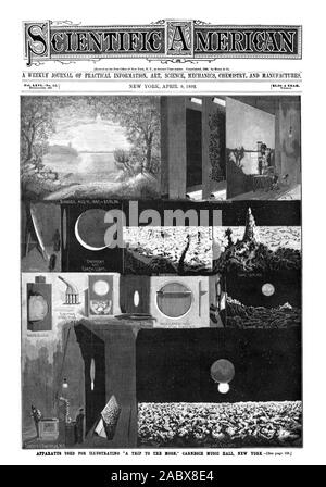 A WEEKLY JOURNAL OF PRACTICAL INFORMATION ART SCIENCE MECHANICS CHEMISTRY AND MANUFACTURES, scientific american, 1892-04-09 - Stock Photo