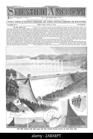 Entered at the Post Office of New York N. Y. as Second Class matter. Copyrighted 1892 by Munn & Co. THE NEW CROTON DAM. TICE NEW CROTON DAN AND LAKE FOR THE FUTURE WATER SUPPLY OF NEW YORK CITY. . : al II, scientific american, 1892-07-09 - Stock Photo