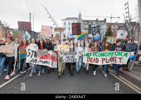 Cork City, Cork, Ireland. 29th Nov, 2019. Students taking part in the Global Climate Strike that was held in Cork City, Ireland.- Credit: David Creedon/Alamy Live News - Stock Photo