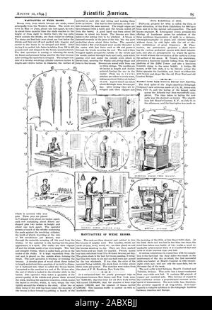 MANUFACTURE OF WHISK BROOMS. MANUFACTURE OF WHISK BROOMS. Paris Exhibition of 1900., scientific american, 1894-08-11 - Stock Photo
