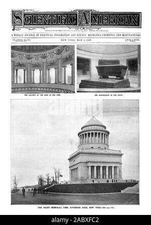 THE SARCOPHAGUS IN THE CRYPT. A. WEEKLY JOURNAL OF PRACTICAL INFORMATION ART SCIENCE MECHANICS CHEMISTRY AND MANUFACTURES.  1897 SCIENTIFIC AMERICAN INC., 1897-05-01 - Stock Photo