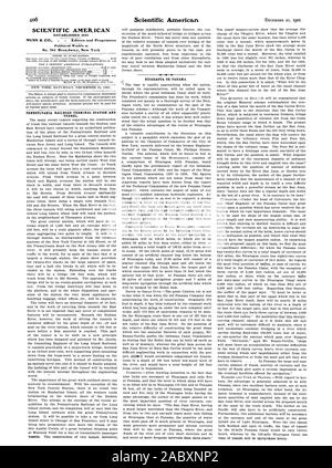SCIENTIFIC AMERICAN ESTABLISHED 1845 Published Weekly at No. 361 Broadway New York TUNNEL. NICARAGUA OR PANAMA., 1901-12-21 - Stock Photo