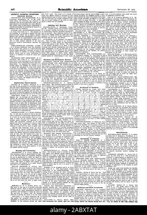 RECENTLY PATENTED INVENTIONS. Engineering Improvements. Hardware. Lighting and Heating. Machines and Mechanical Devices. Thili mechanism will quickly open and close 'Miscellaneous. Or Interest to Farmers., scientific american, 1903-09-26 - Stock Photo