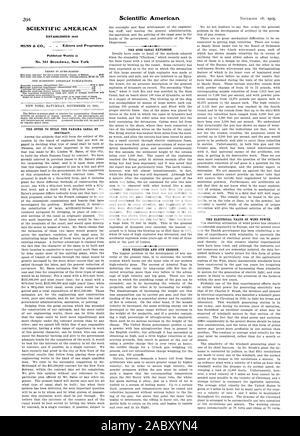 SCIENTIFIC AMERICAN MUNN 6 CO. _ Editors and Proprietors No. 361 Broa.dwa.y New York, 1905-11-18 - Stock Photo