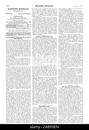 SCIENTIFIC AMERICAN ESTABLISHED 1845 Published Weekly at No. 361 Broadway. New York DENATURIZED ALCOHOL. SOME FACTS ABOUT PORTLAND CEMENT., 1906-06-09 - Stock Photo