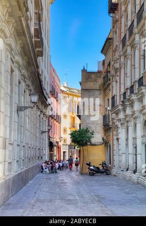Santa Cruz, the old Jewish Quarter in Seville Andalusia Spain