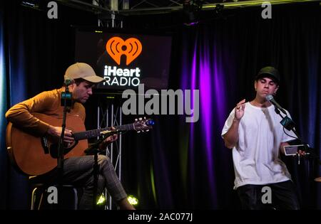 BALA CYNWYD, PA, USA - OCTOBER 14, 2019: American Indie Rock Band Electric Guest Visit Radio 104.5's Performance Theatre. - Stock Photo