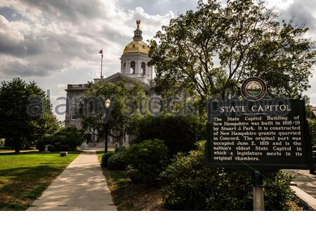 New Hampshire State House _ Concord, New Hampshire, USA - Stock Photo