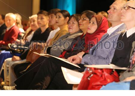 New Irish citizens attend a swearing in ceremony in Killarney County kerry - Stock Photo