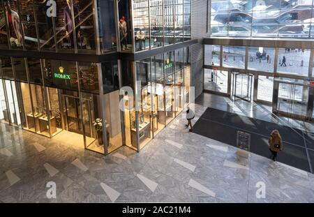 Rolex store in the lobby of the Hudson Yards mall on the West Side of Manhattan - Stock Photo