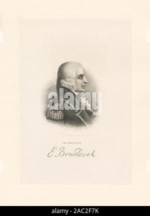 Gen Braddock Printmakers include Henry Bryan Hall, George R. Hall, Alexander Hay Ritchie and James Barton Longacre. Title from Calendar of the Emmet Collection. EM8613 Statement of responsibility : H.B. Hall; Gen. Braddock - Stock Photo