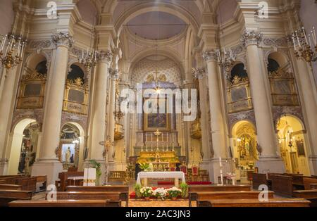PARMA, ITALY - APRIL 16, 2018: The nave of baroque church Chiesa di San Rocco. - Stock Photo