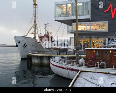 Tromso wharf, Norway - Stock Photo