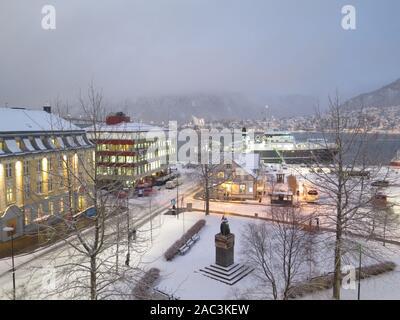 Tromso, Norway: Roald Amundsensplass - Stock Photo