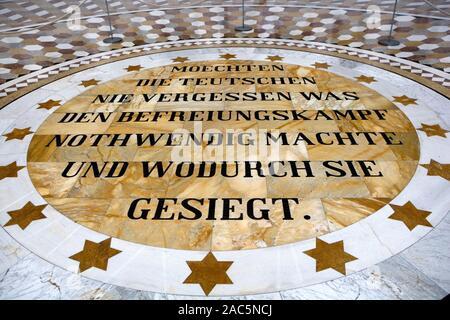 Befreiungshalle Hall of Liberation, built by King Ludwig I of Bavaria, Kelheim, Lower Bavaria, Bavaria, Germany, Europe, 31. July 2008 - Stock Photo