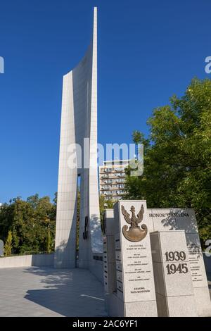 Poland, city of Warsaw, Monument to the Polish Underground State and Home Army - Stock Photo