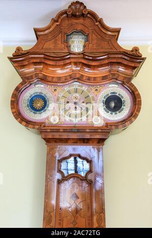 Hüsgen-Uhr, Hüsgen clock, astronomical clock constructed in 1746 at Goethe Haus Museum, Frankfurt am Main, Germany