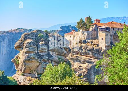 Scenic view of The Holy Monastery of Varlaam in Meteora, Greece -  Greek landscape