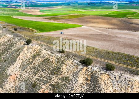 Farming area. Navarre, - Stock Photo