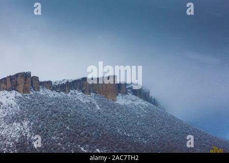 Mountain range in winter. - Stock Photo