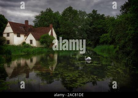 Willy Lotts Cottage, (Constable's Haywain) - Stock Photo