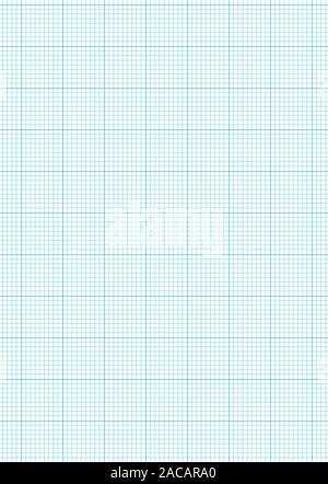 Graph paper A4 sheet - Stock Photo