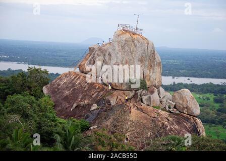 Temple, Sila Rock, Silafelsen, Mihintale, Sri Lanka, Asia - Stock Photo