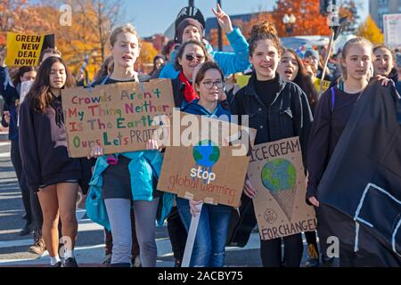 Washington, DC - Young activists held a 'Funeral for Future' on Capitol Hill to demand that governments address the crisis of climate change. It was p