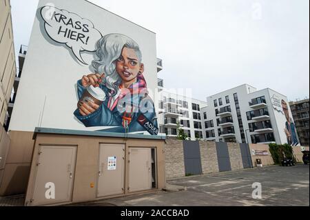 10.06.2019, Berlin, Germany, Europe - New apartment buildings by Adler Real Estate along Heidestrasse in the Europacity in Berlin Moabit.