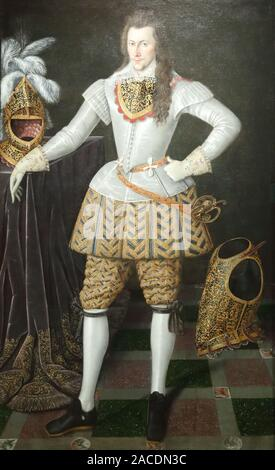 Portrait of Henry Wriothesley 3rd Earl of Southampton at the National Portrait Gallery, London, UK