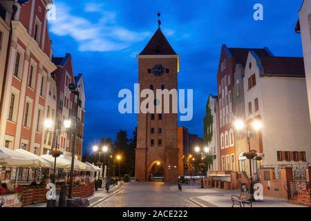 Elblag Gate Tower. Elblag, Warmian-Masurian, Poland. - Stock Photo