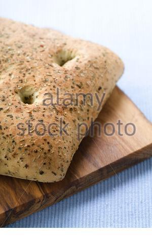 Foccacia bread - Stock Photo