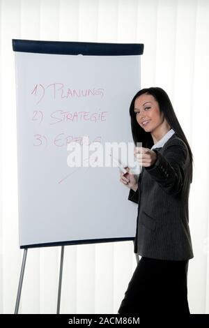 Coach Flipchart in German. - Stock Photo