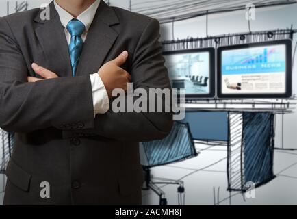 Business man success - Stock Photo