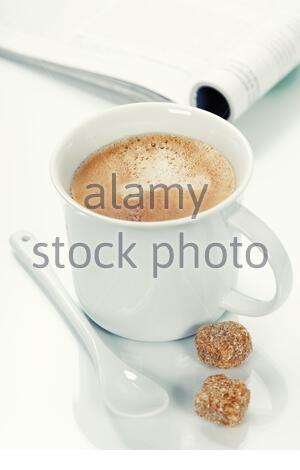 coffee and magazine - Stock Photo