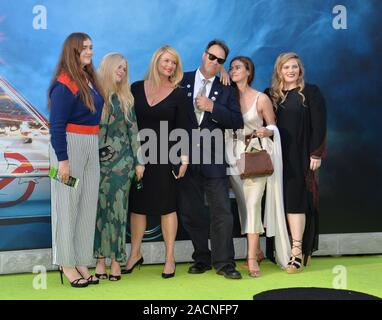 LOS ANGELES, CA. July 9, 2016: Actor Dan Aykroyd & wife Donna Dixon & family at the Los Angeles premiere of 'Ghostbusters' at the TCL Chinese Theatre, Hollywood. © 2016 Paul Smith / Featureflash - Stock Photo
