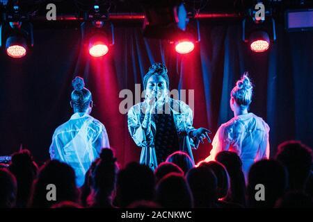 Copenhagen, Denmark. 02nd Dec, 2019. The Malaysian singer and songwriter Yuna performs a live concert at BETA in Copenhagen. (Photo Credit: Gonzales Photo/Mathias Kristensen/Alamy Live News). - Stock Photo