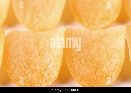 Close-uppotato chips - Stock Photo
