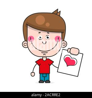 Baby Heart Isolated On White Background. Red. Symbol Of Love. Charity And Donations. Valentine's Day. Icon Or Logo. Cute Design. Flat Style Vector - Stock Photo