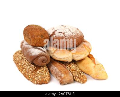 Composition various kinds of bread. - Stock Photo