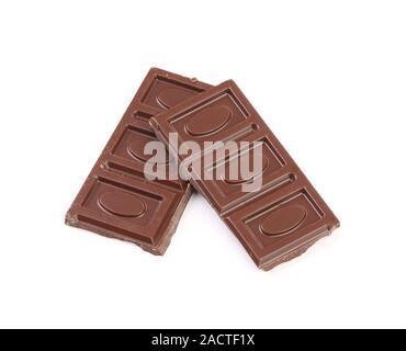 Chocolate bars isolated - Stock Photo